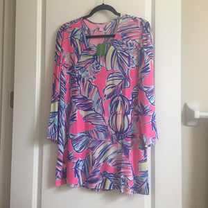 NWT Lilly Pulitzer Lantana Beach Tunic Tiki Pink